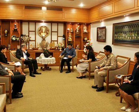 เอกอัครราชทูตออสเตรเลียประจำประเทศไทย เข้าเยี่ยมคารวะผู้ว่าราชการจังหวัดเชียงใหม่ เพื่อหารือบทบาทสำคัญด้านเศรษฐกิจ การค้า การลงทุน การท่องเที่ยว การศึกษา อุตสาหกรรม การดูแลรักษาการแพทย์ และความมั่นคงของจังหวัด